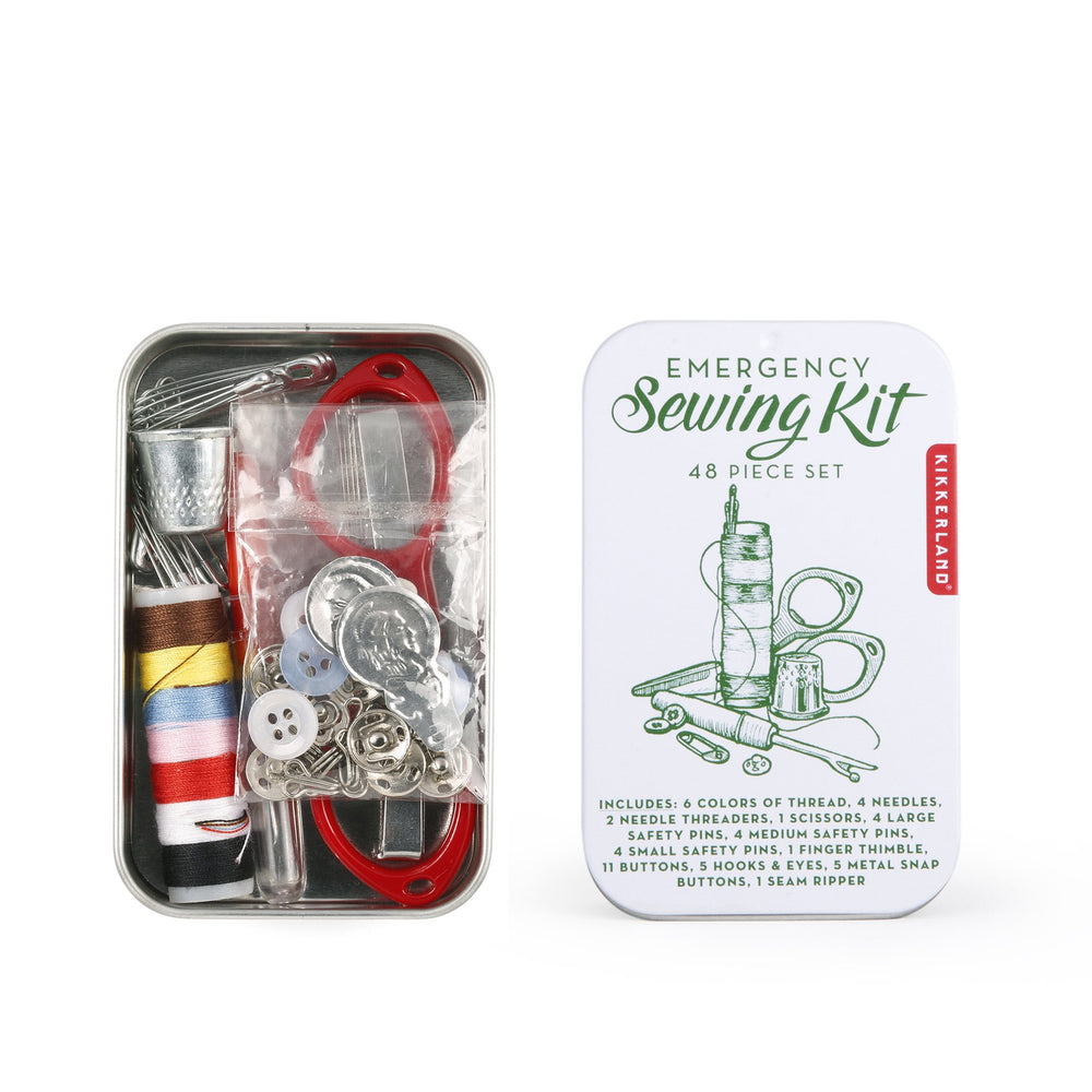 Load image into Gallery viewer, Sewing Kit Mini Toolkit Emergency Green
