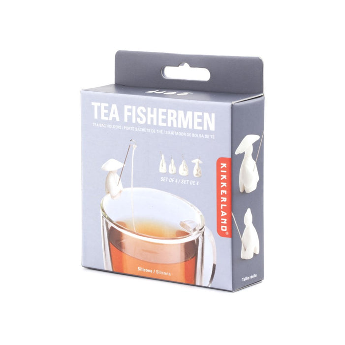 Tea bag holder fishermen - set of 4 Kitchen KIKKERLAND - Brand Academy Store