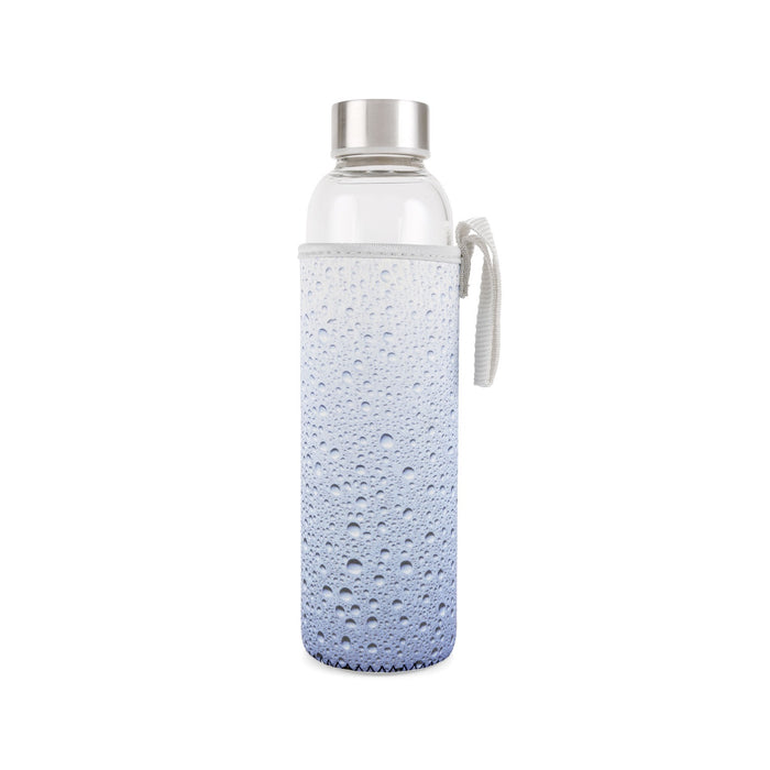 Glass water bottle with sleeve Home KIKKERLAND - Brand Academy Store