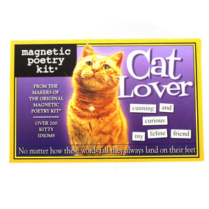 Magnetic Poetry Cat Lover Set Game Puzzle
