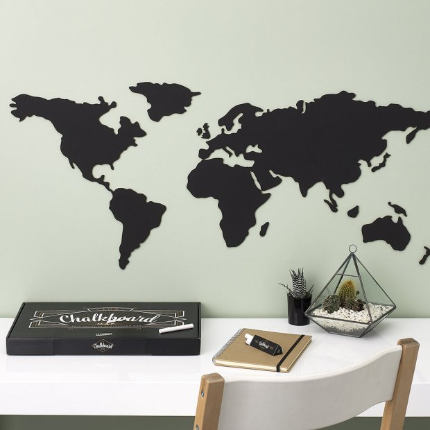 Chalkboard travel map LUCKIES Luckies - Brand Academy Store