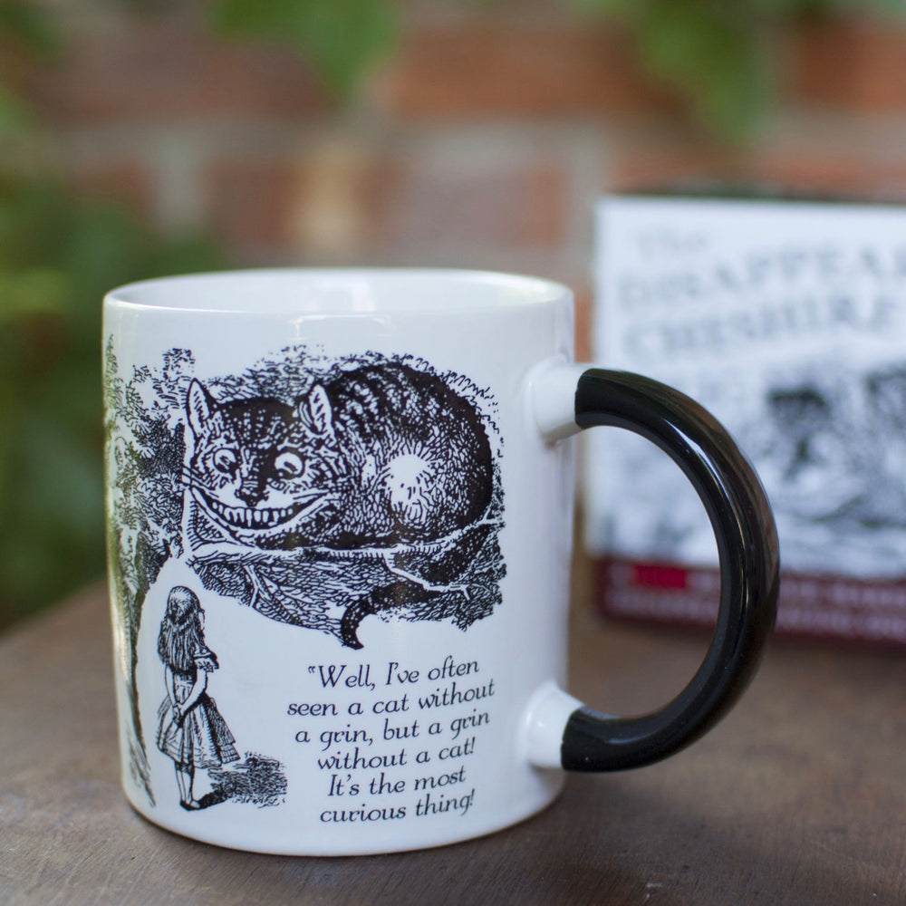Mug with heat changing Cheshire Cat from Alice in Wonderland in white