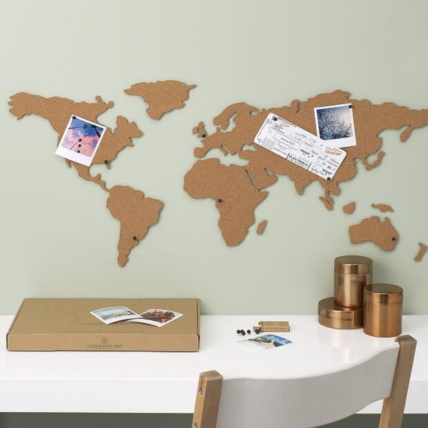 Corkboard travel map LUCKIES Luckies - Brand Academy Store
