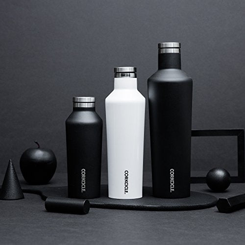 Corkcicle 9oz thermal insulated canteen for hot and cold drinks in matte black