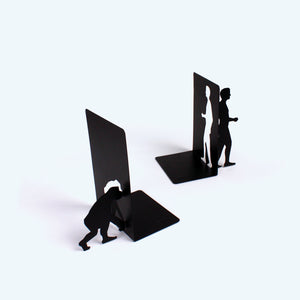 Evolution Bookends / Book Stopper Metal in Black