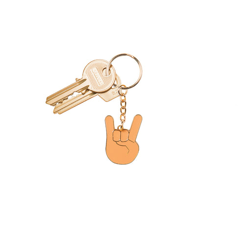 """Rock and Roll"" emoji keyring Misc Doiy - Brand Academy Store"