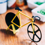 Fixie yellow bicycle pizza cutter Kitchen Doiy - Brand Academy Store
