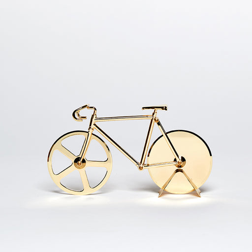 Fixie gold bicycle pizza cutter Kitchen Doiy - Brand Academy Store