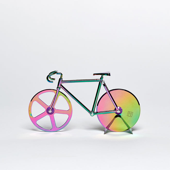 Fixie iridescent bicycle pizza cutter Kitchen Doiy - Brand Academy Store