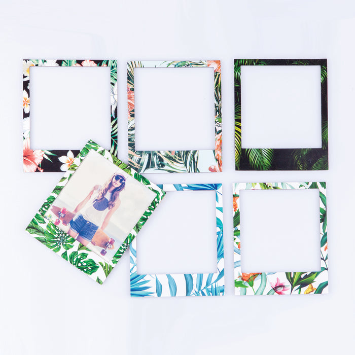 Polaroid tropical picture frame magnets Home Doiy - Brand Academy Store