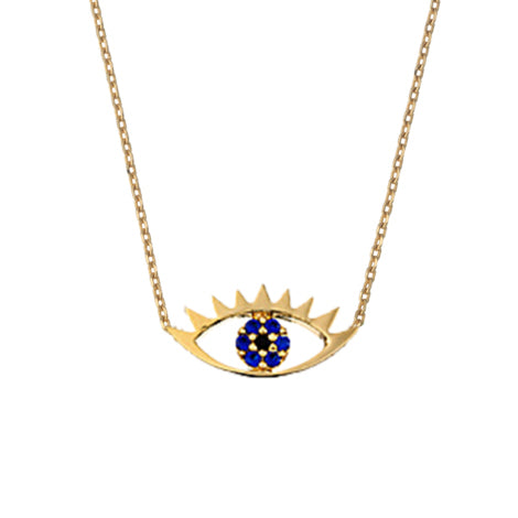 Eye necklace gold Jewellery Estella Bartlett - Brand Academy Store