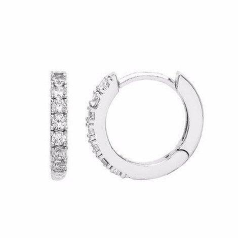 Encrusted hoop silver earrings Fashion Estella Bartlett - Brand Academy Store