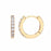 Encrusted hoop gold earrings Fashion Estella Bartlett - Brand Academy Store