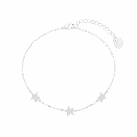 Three star silver bracelet