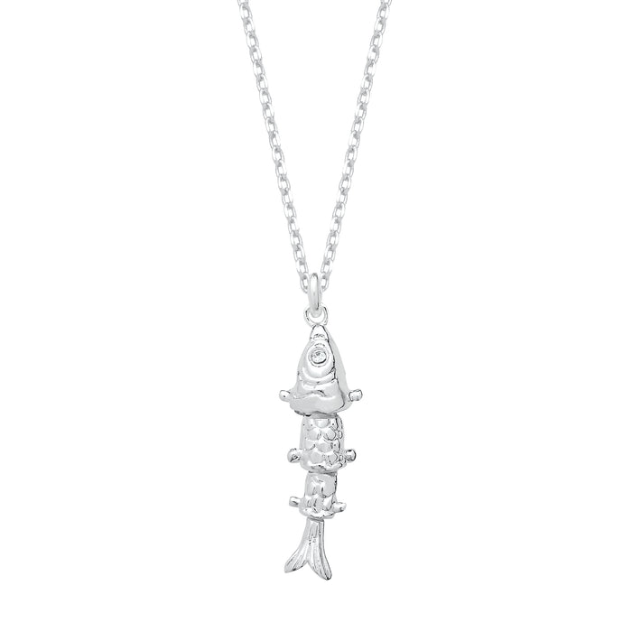 Lucky fish silver necklace