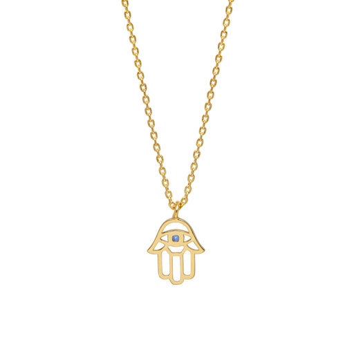 Hamsa hand gold necklace Jewellery Estella Bartlett - Brand Academy Store