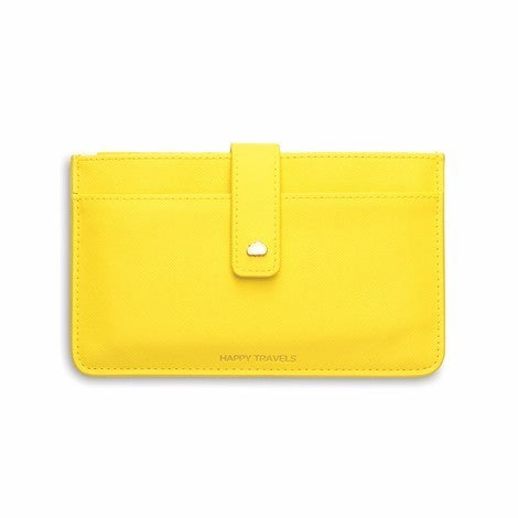 Travel wallet yellow