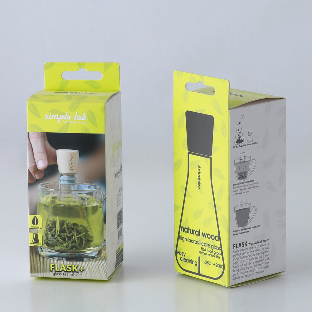 Tea Infuser Science Flask Glass & Wood