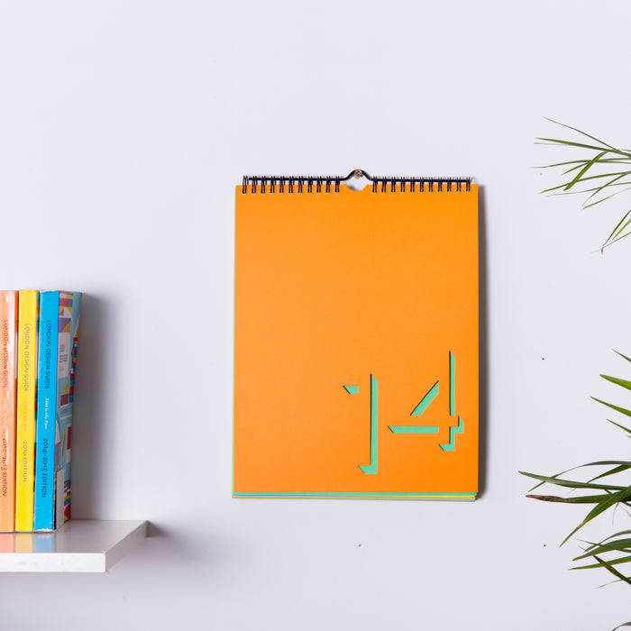 Flip calendar multicoloured Home block - Brand Academy Store