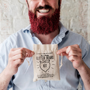 Load image into Gallery viewer, Glitter Beard Kit in Red