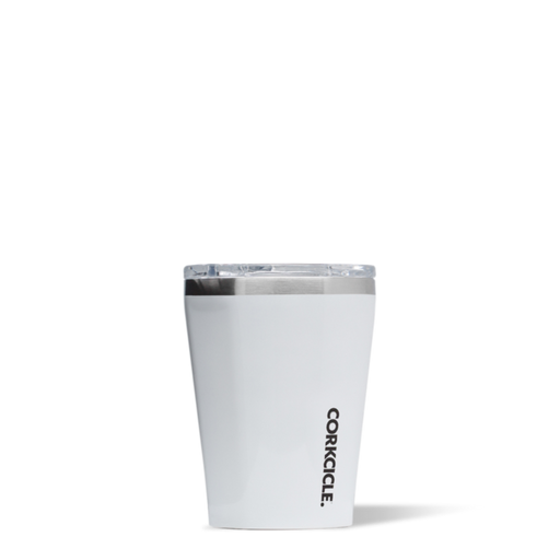 Corkcicle 12oz thermal insulated tumbler for hot and cold drinks in white