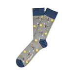 Socks Unisex Tennis Sports Grey Blue