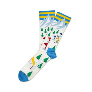 Socks Unisex Ski Slopes White Blue