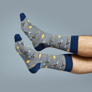 Load image into Gallery viewer, Socks Unisex Tennis Sports Grey Blue
