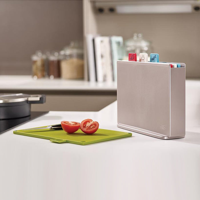 "Colour-coded ""index"" chopping board set Kitchen Joseph Joseph - Brand Academy Store"