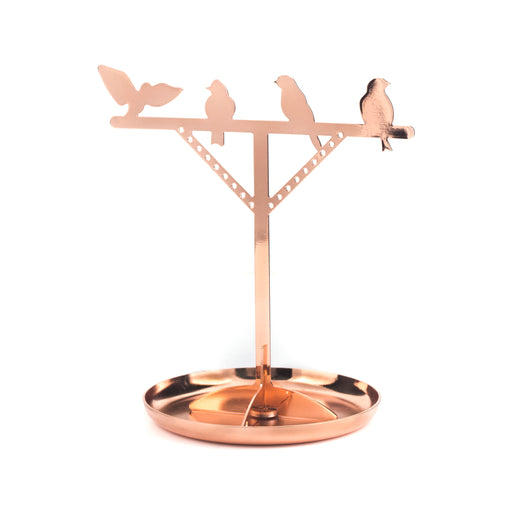 Bird Copper Jewellery Stand Home KIKKERLAND - Brand Academy Store