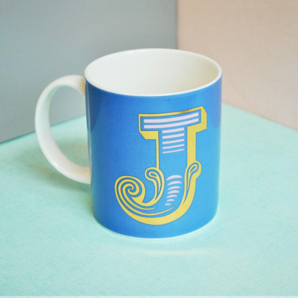 J | Luxury china mug Kitchen Huey - Brand Academy Store