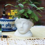 Plant Pot Jane Austen Ceramic Mini Planter White
