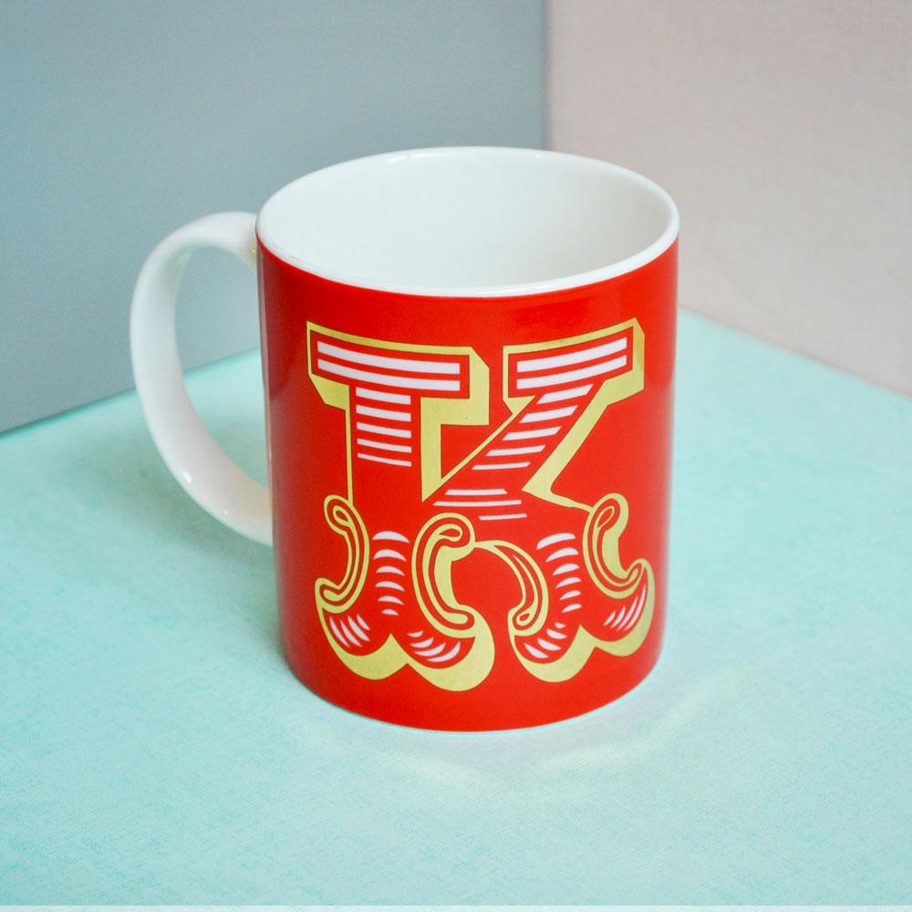 K | Luxury china mug Kitchen Huey - Brand Academy Store