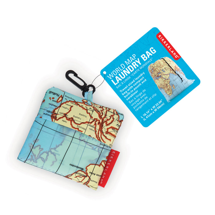 World traveller map laundry bag Home KIKKERLAND - Brand Academy Store