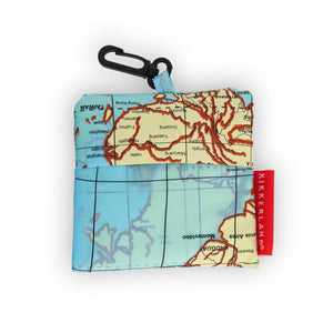 World traveller map laundry bag