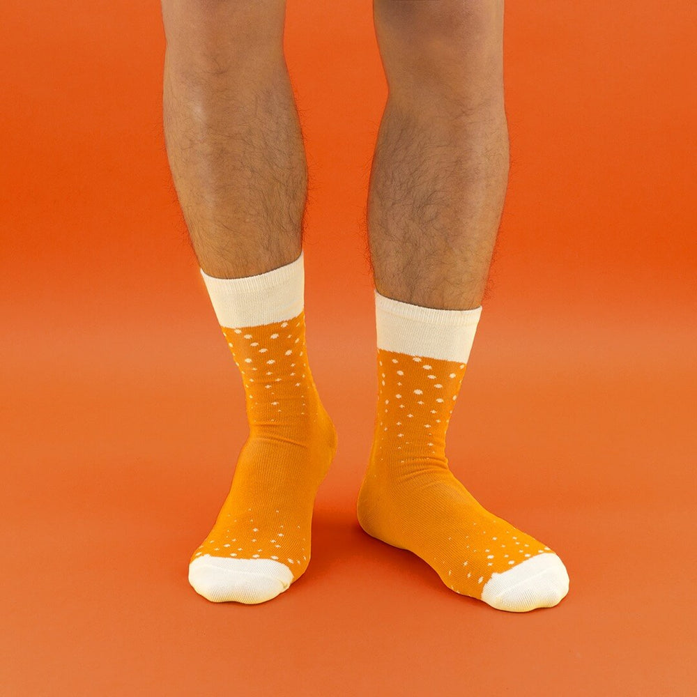 Socks Mens Gift Beer Ale Orange