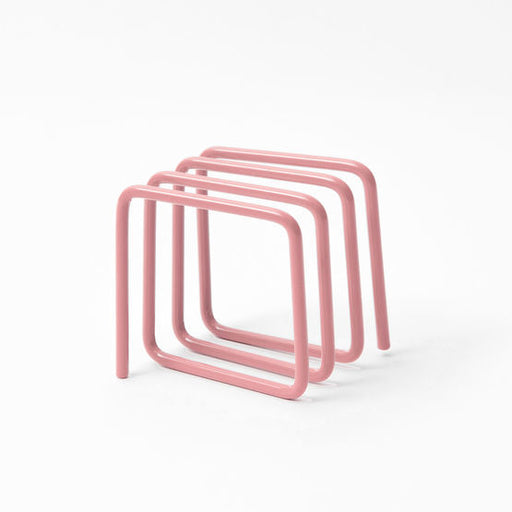 Letter rack in soft pink
