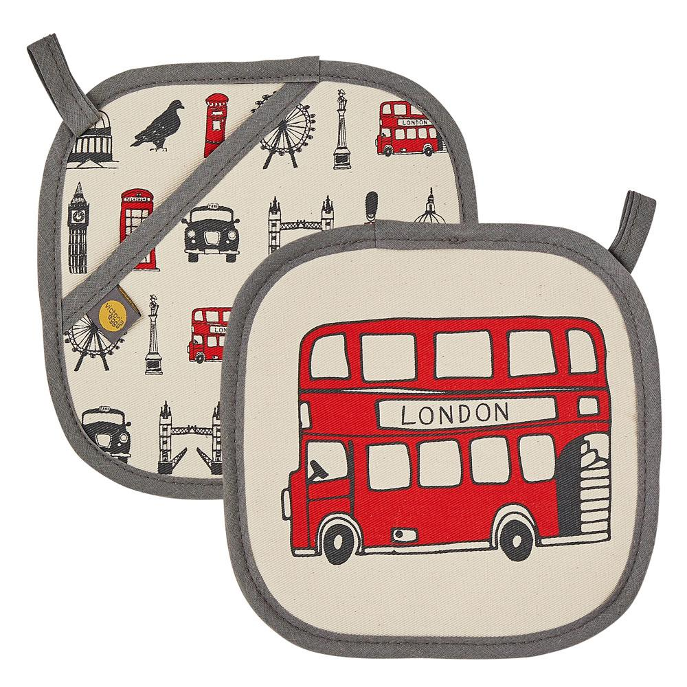 Pot grab with London Icons souvenir gift in cream