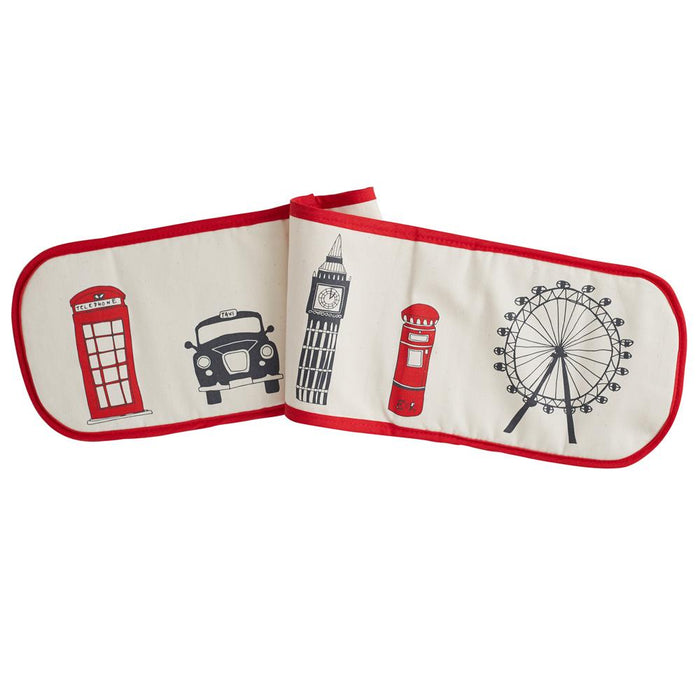 Oven glove with London Skyline souvenir gift in cream