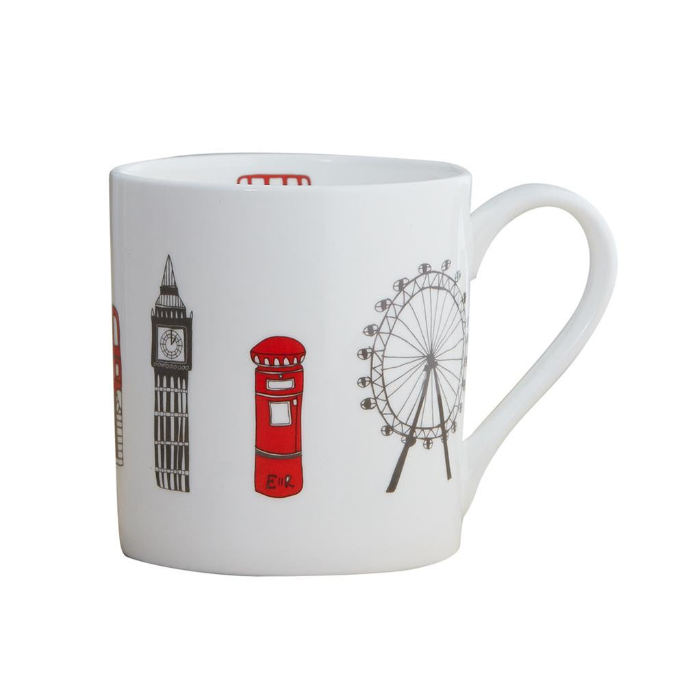 Mug with London Skyline souvenir gift in white