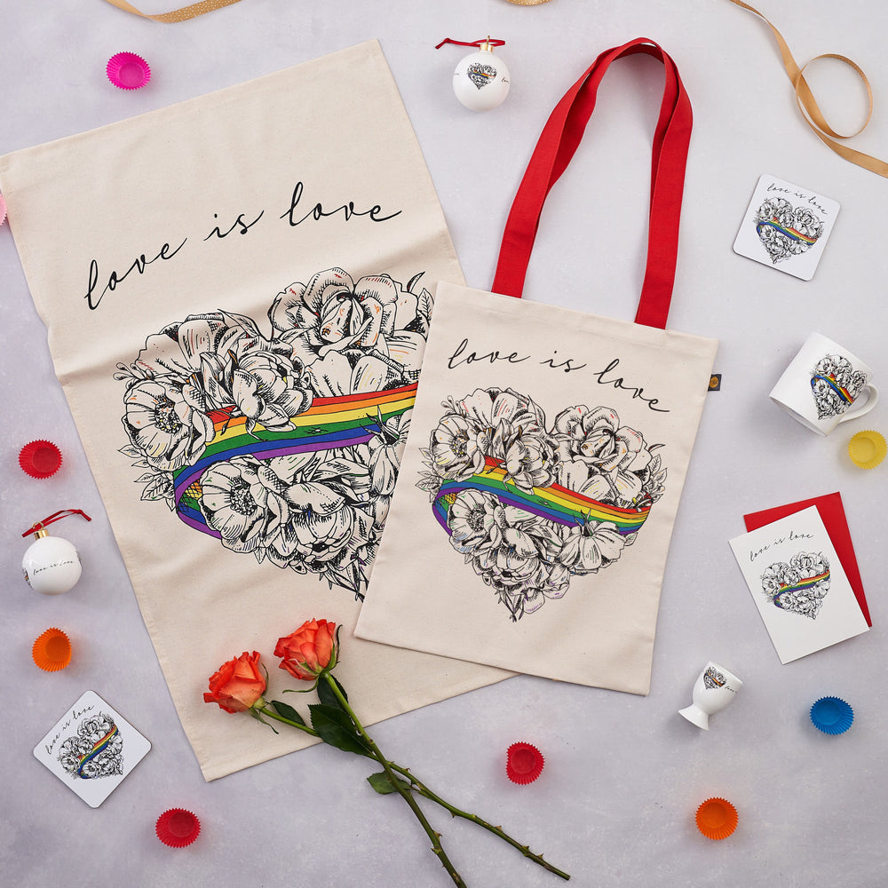 Canvas Bag Love is Love Rainbow Design