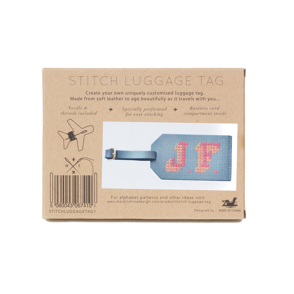 Load image into Gallery viewer, Stitch Luggage tag grey