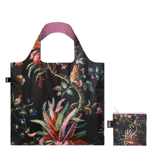 Foldable Tote bag with botanical Arabesque artwork by MAD in black
