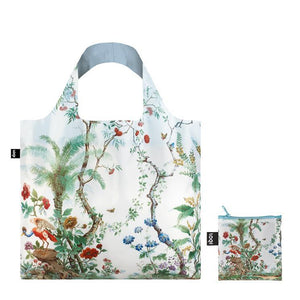 Foldable Tote bag with 'Chinese Decor' scenic Jungle artwork by Hermann Et Zipelius in white