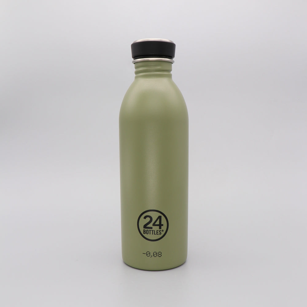 Water Bottle Lightweight 500ml Green Sage Stone