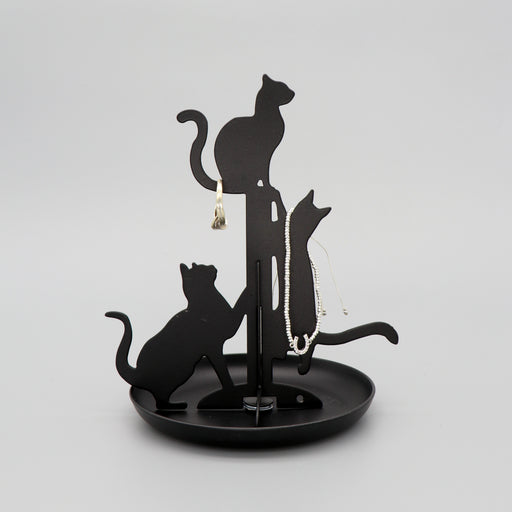 Jewellery Stand Cats Black
