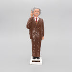 Solar Einstein Figurine Thinking Brown