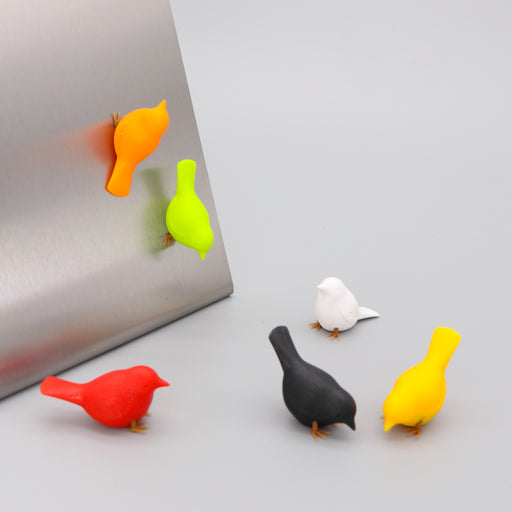 Bird magnets Sparrows set of 6 in multicolour