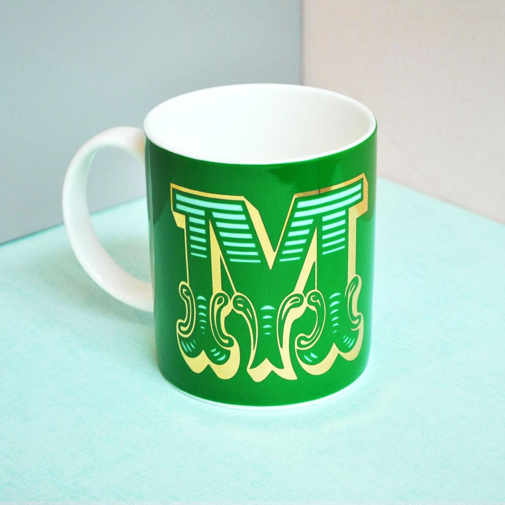 M | Luxury china mug Kitchen Huey - Brand Academy Store