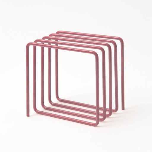 Magazine rack in pink Home block - Brand Academy Store